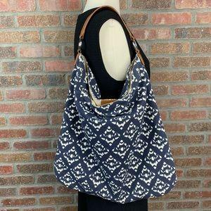 Talbots Ikat Print Cotton Bag